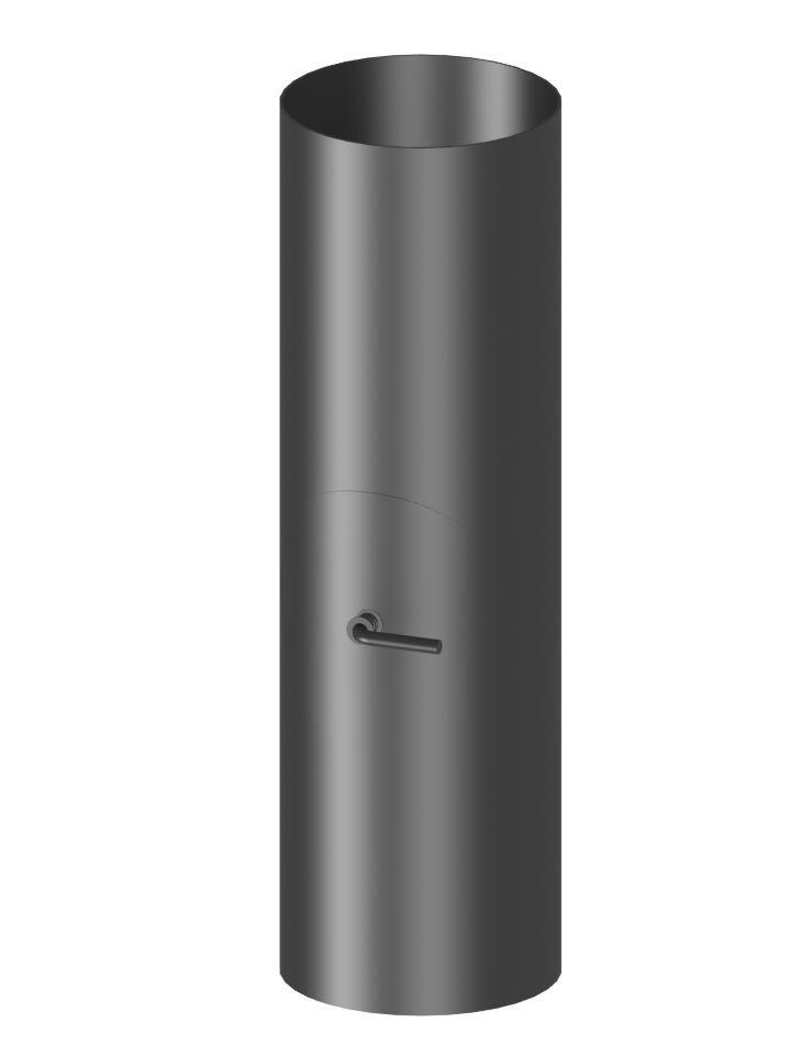Rura dł. 500 mm z rewizją i klapą spalinową (bez wcięcia)