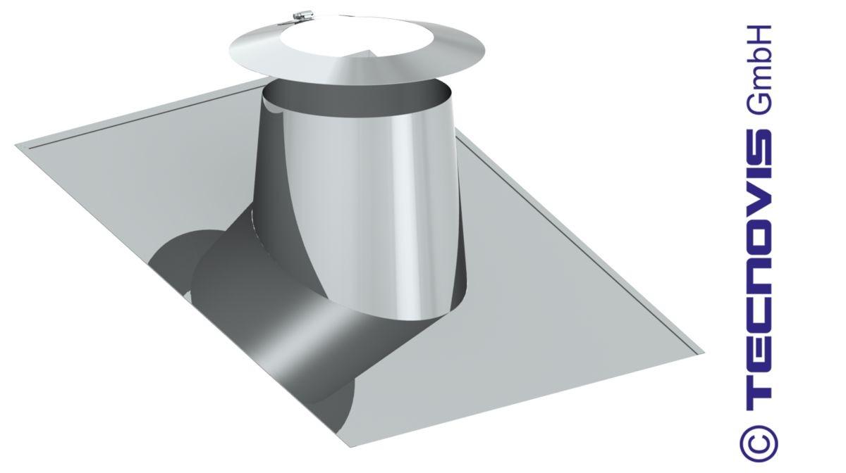 Przejście dachowe płaskie aluminiowe 16 -25º + kołnierz