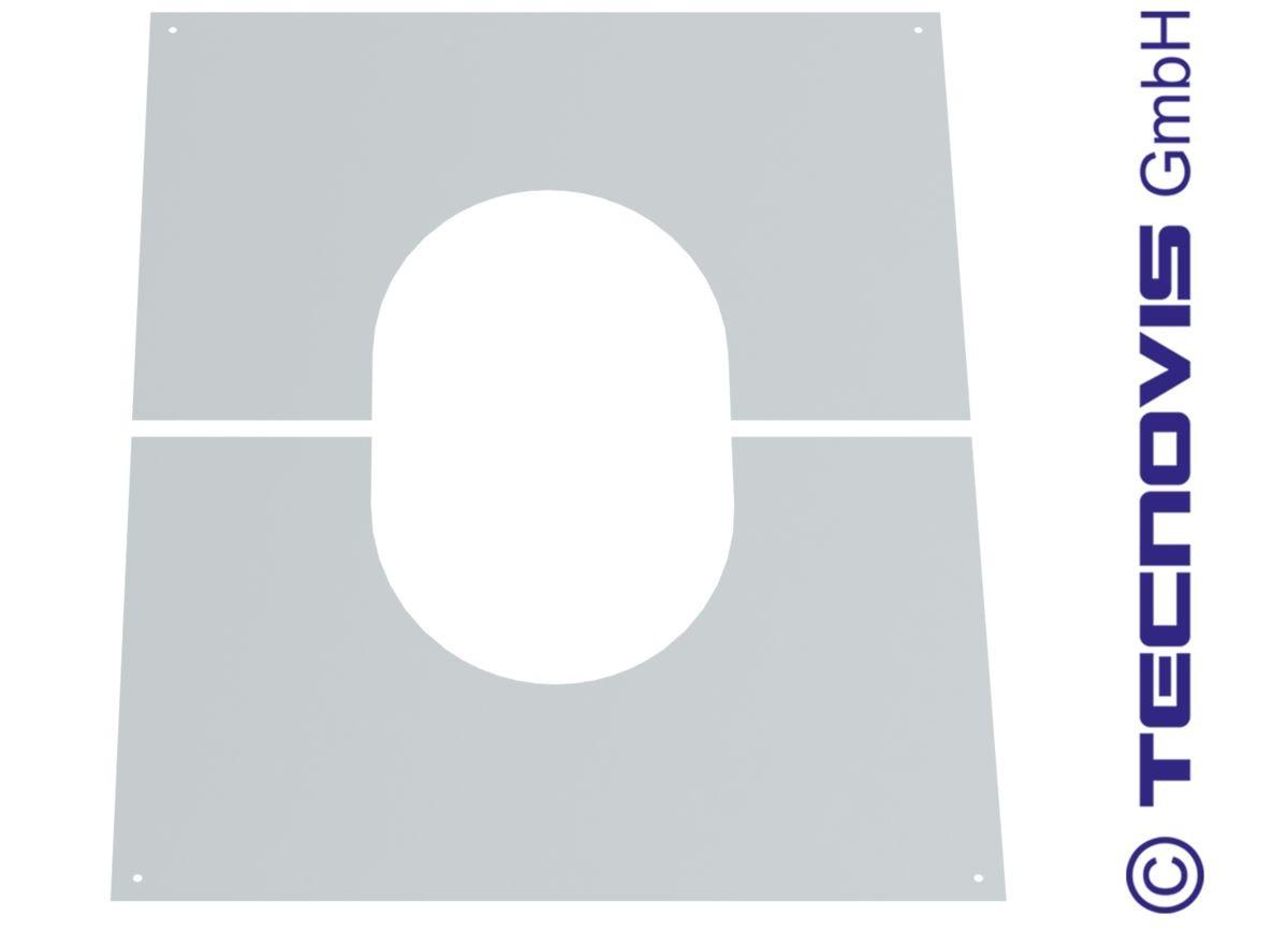 Osłona przejścia przez strop/ścianę dwuczęściowa bez wentylacji 30-45°