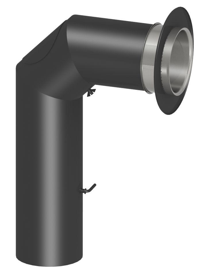 Zestaw z przedłużonym kolanem do podłączenia kotła na paliwo stałe (70/45 cm)