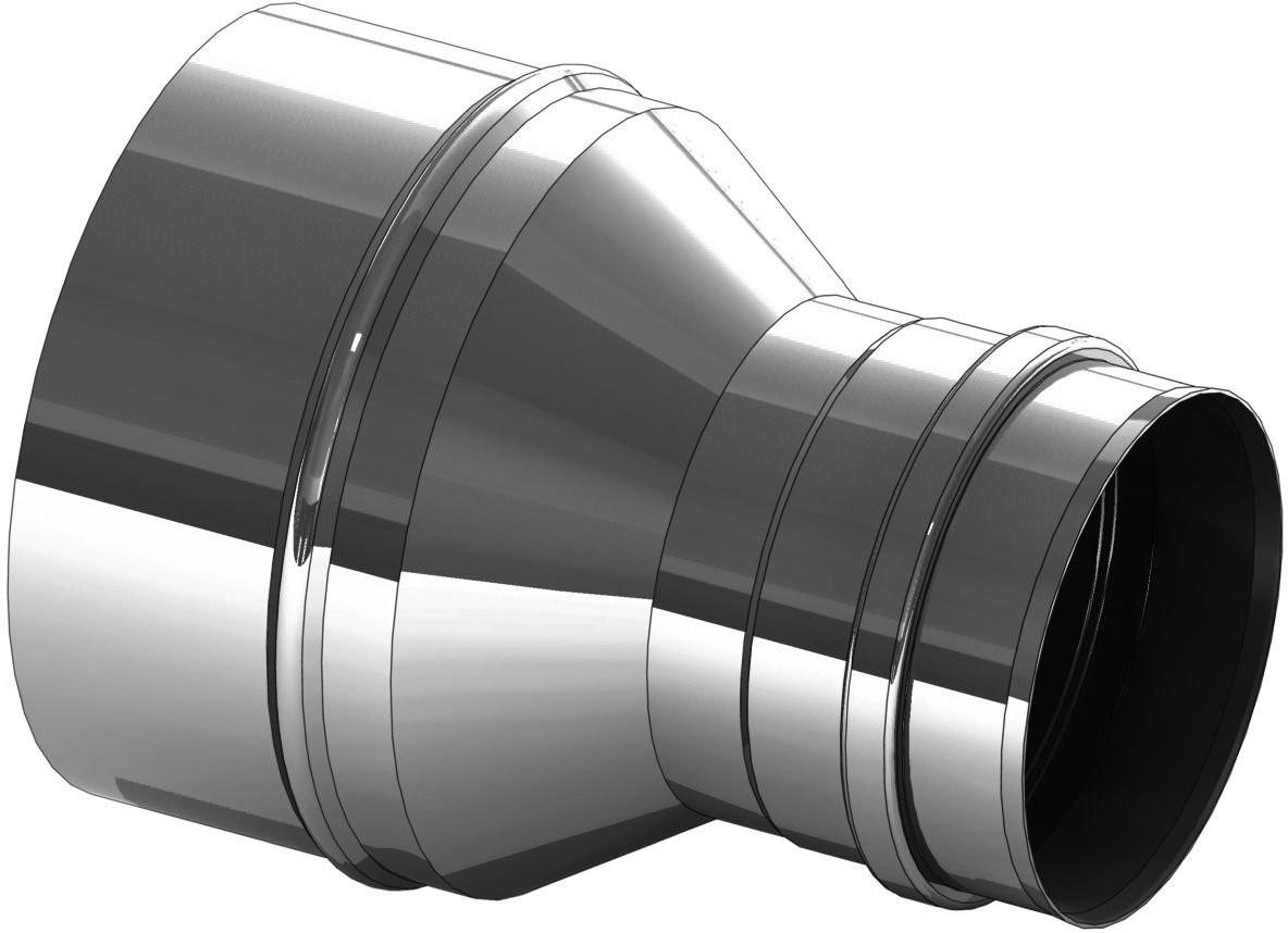 Element rozszerzający ze stali nierdzewnej 130 na 160 mm