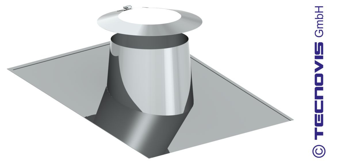 Przejście dachowe płaskie aluminiowe 5 -15º + kołnierz