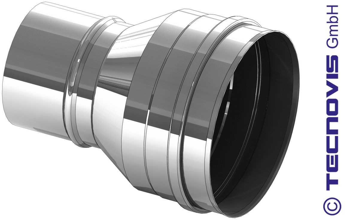 Element rozszerzający dla rury pieca na pellety 80 na 130 mm