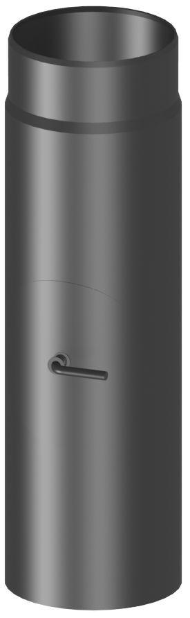 Rura kominowa stal 30 cm z rewizją i klapą