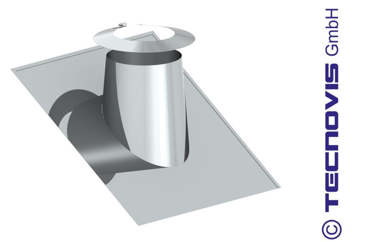 Przejście dachowe płaskie aluminiowe 26 -35º + kołnierz