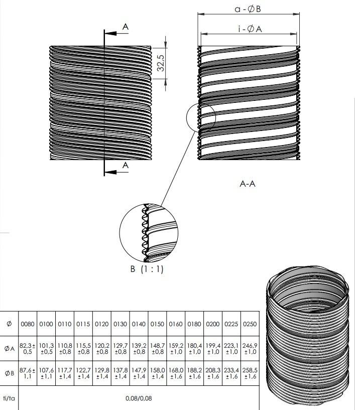 Rura elastyczna (na metry)