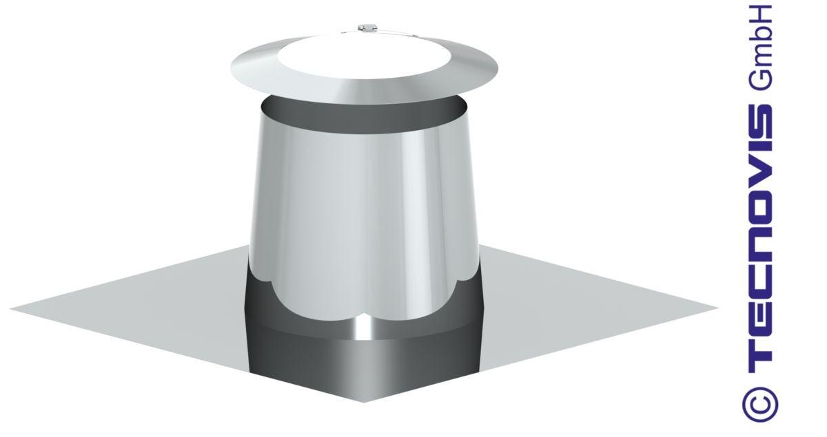 Przejście dachowe płaskie aluminiowe 0 - 5º+ kołnierz
