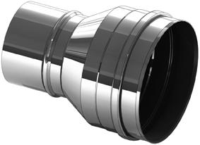 Element rozszerzający ze stali nierdzewnej 180 na 200 mm