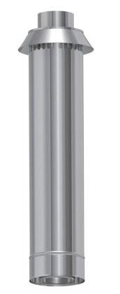 rura 75 cm z pionowym zakończeniem płaszcz zewnętrzny wysoki połysk