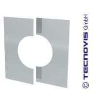 Osłona przejścia przez strop/ścianę 0°-30° dwuczęściowa bez wentylacji