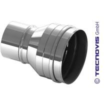 Element rozszerzający dla rury pieca na pellety 80 na 100 mm