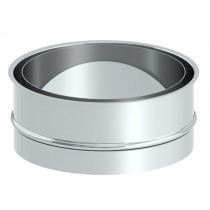 Mufa dwuścienna 100 mm, nielakierowana
