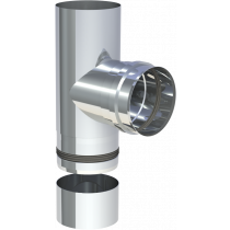 Trójnik 90º z oddzielną miską na kondensat