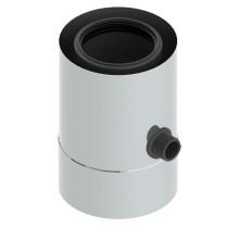 Naczynie z odpływem kondensatu dla części poziomej i pionowej